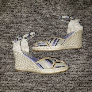 Anthropologie Maypol lilac Espadrille wedge heel 9